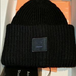 ACNE Rib-knitted beanie BLACK